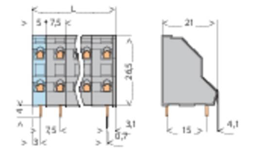 Doppelstockklemme 2.50 mm² Polzahl 4 736-502 WAGO Grau 1 St.