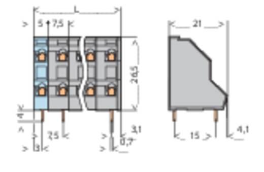 Doppelstockklemme 2.50 mm² Polzahl 4 WAGO Grau 1 St.