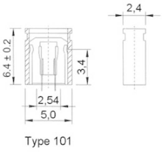 Kurzschlussbrücke Rastermaß: 2.54 mm Pole:2 W & P Products 165-101-10-00 Inhalt: 1 St.