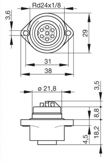 Steckverbinder für Netzspannung CA-Serie Pole: 6 + PE Gerätedose 10 A/AC/DC 932 325-100 Hirschmann 1 St.
