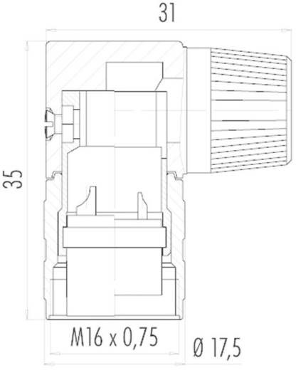 Miniatur-Rundsteckverbinder Serie 682 Pole: 8 DIN Kabelstecker 5 A 09-0154-70-08 Binder 1 St.