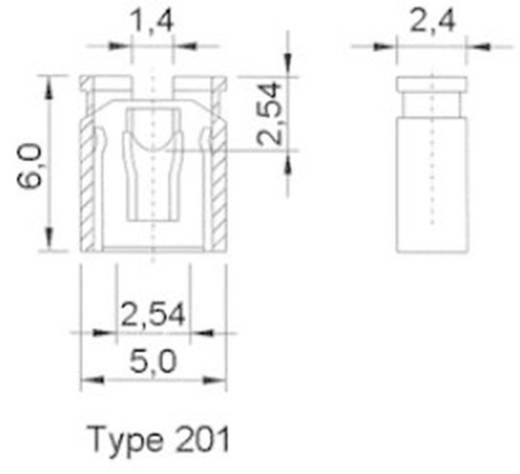 Kurzschlussbrücke Rastermaß: 2.54 mm Polzahl je Reihe:2 W & P Products 165-201-10-00 Inhalt: 1 St.