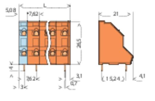Doppelstockklemme 2.50 mm² Polzahl 8 WAGO Orange 1 St.