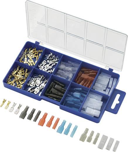 Quetschverbinder-Sortiment 0.5 mm² 2.5 mm² Transparent, Schwarz, Rot, Blau Conrad Components 739660 160 St.