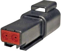 Konektor Deutsch 19758 (DT 04-2P-CE02), zásuvka rovná, 2-pól., séria DT, 13 A, čierna