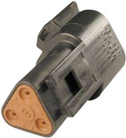 Konektor Deutsch 19760 (DT 04-3P-CE02), zásuvka rovná, 3-pól., séria DT, 13 A, čierna
