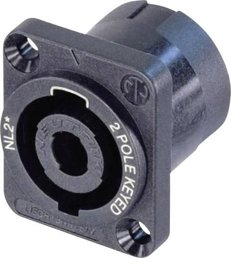 Lautsprecher-Steckverbinder Flanschbuchse, Kontakte gerade Polzahl: 2 Schwarz Neutrik NL2MP 1 St.