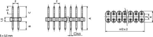Stiftleiste RM 2 mm SLY 2/104/100/Z Fischer Elektronik Inhalt: 1 St.