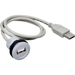 USB 2.0 zásuvka, vstavateľná Schlegel RRJ-USB RRJ-USB, 0.60 m, sivá, 1 ks