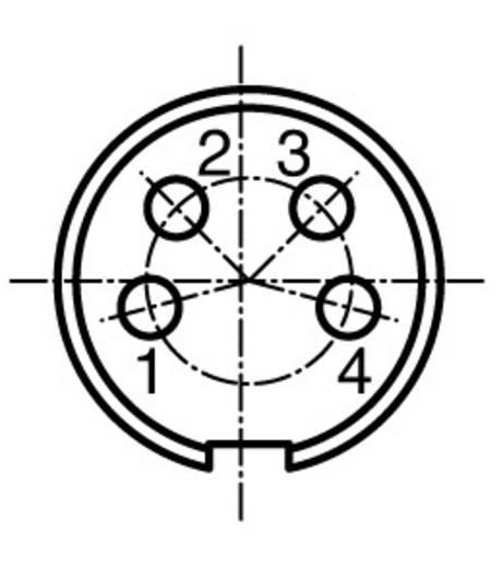 Rundstecker Stecker, Einbau Serie (Rundsteckverbinder): C091 Gesamtpolzahl: 4 C091 31W004 100 2 Amphenol 1 St.