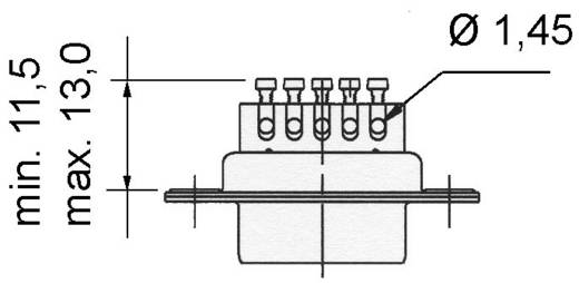 D-SUB Stiftleiste 180 ° Polzahl: 9 Schrauben Amphenol 717D E09P ST 1 St.
