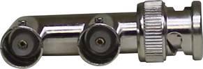 BNC-Adapter Silber