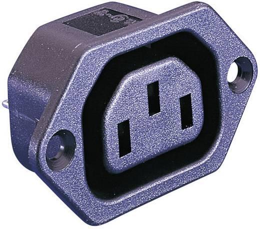 Kaltgeräte-Steckverbinder C13 Serie (Netzsteckverbinder) PX Buchse, Einbau vertikal Gesamtpolzahl: 2 + PE 10 A Schwarz B