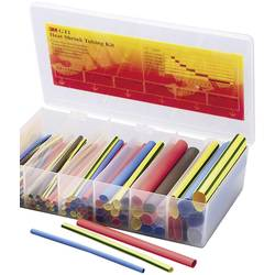Sada zmršťovacých bužírok 3M TE-1000-3882-3 TE-1000-3882-3, 2:1, červená, modrá, hnedá, priehľadná, zelená, žltá, 104 dielov