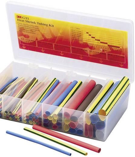 Schrumpfschlauchsortiment Rot, Blau, Braun, Transparent, Grün-Gelb Schrumpfrate:2:1 3M TE-1000-3882-3 TE-1000-3882-3 1