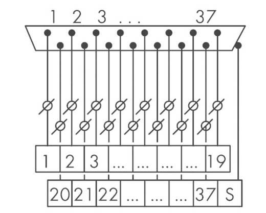 Übergabebaustein D-SUB-Stiftleiste 289-722 WAGO Inhalt: 1 St.