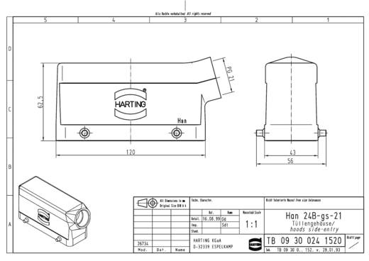 Tüllengehäuse Han® 24B-gs 09 30 024 1520 Harting 1 St.