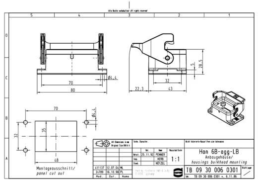 Anbaugehäuse Han® 6B-agg-LB 09 30 006 0301 Harting 1 St.