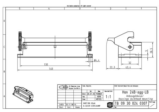 Anbaugehäuse Han® 24B-agg-LB 09 30 024 0307 Harting 1 St.