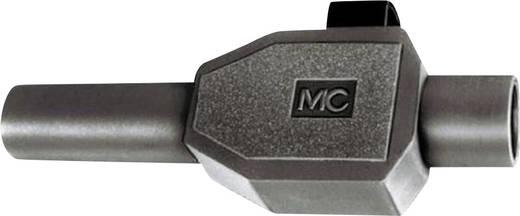 Laborstecker Stecker, gerade Stift-Ø: 4 mm Schwarz MultiContact SKLS4 1 St.