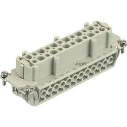 Konektorová vložka, zásuvka Han® E 09 33 024 2701 Harting 24 + PE, šroubovací připojení, 10 ks