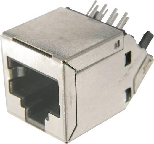 Modular Buchse, RJ45, CAT 6 Buchse, Einbau horizontal Pole: 8P8C AMJ-188-30101-CAT6 Silber ASSMANN WSW AMJ-188-30101-CAT6 1 St.