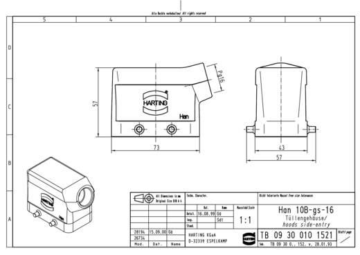 Tüllengehäuse Han® 10B-gs-16 09 30 010 1521 Harting 1 St.