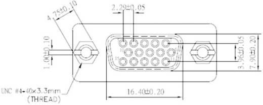 Digitus D-SUB-Adapter D-SUB-Buchse 15pol. 3-reihig an D-SUB-Buchse 15pol. 3-reihig