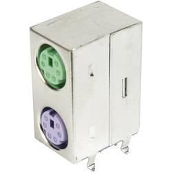 Image of Mini-DIN-Dual Port-Buchse, geschirmt geschirmt Pole: 6 ASSMANN WSW Inhalt: 1 St.
