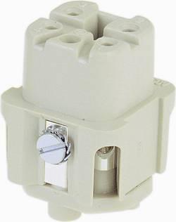 Konektorová vložka, zásuvka Han® A 09 20 003 2711 Harting 3 + PE, šroubovací připojení, 10 ks