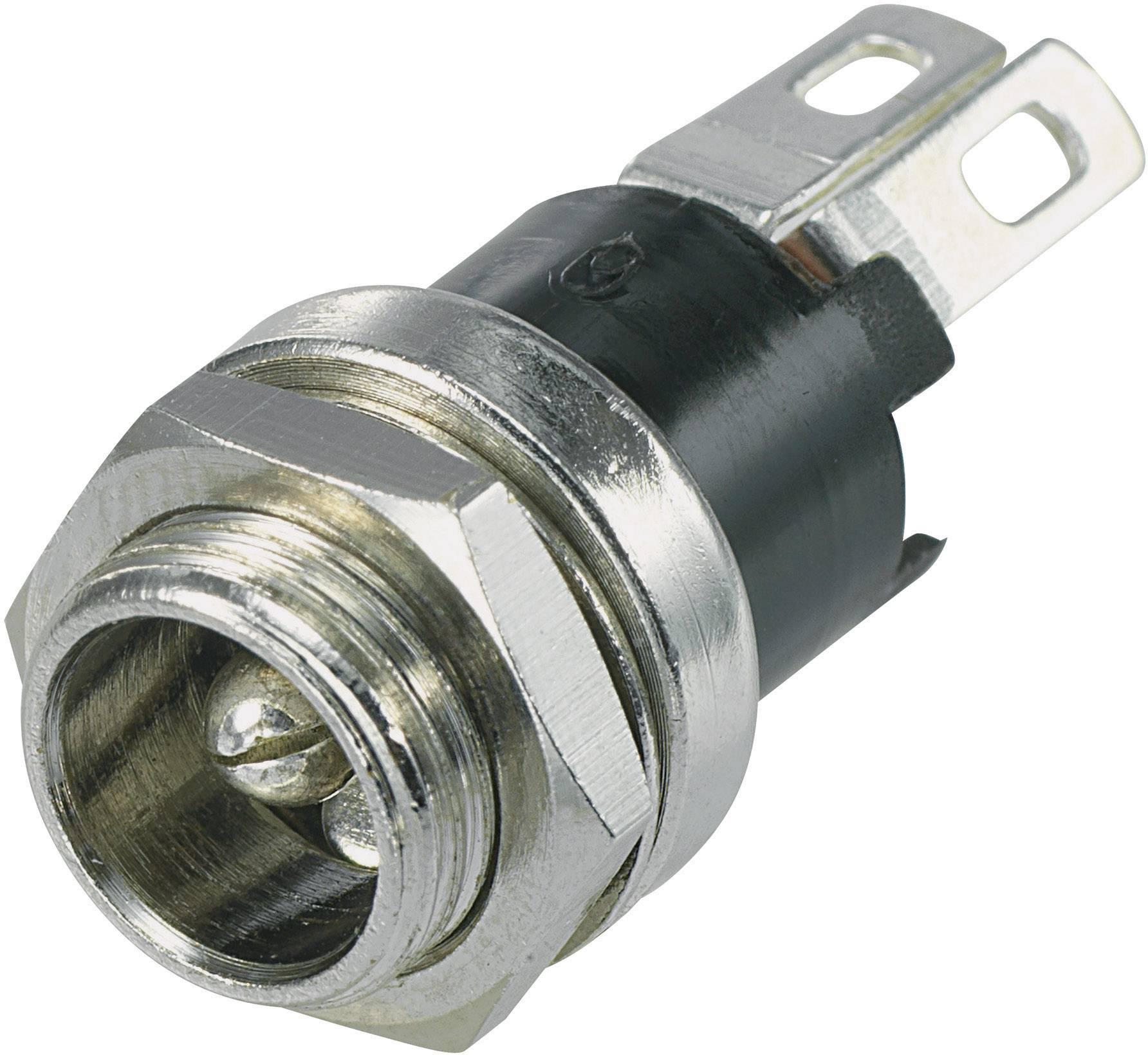 Einbau vertikal  5.8 mm 2.1 mm TRU COMPONENTS  Niedervolt-Steckverbinder Buchse