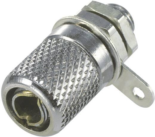 Miniatur-Laborbuchse Buchse, Einbau vertikal Stift-Ø: 4 mm Silber 1 St.