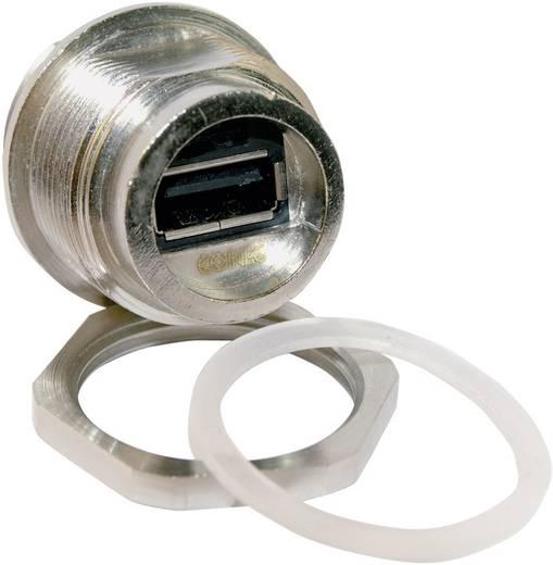 USB 2.0 Einbaugehäuse-Set Buchse, Einbau 17-200321 Schraubanschluss M28 ohne Schutzkappe Conec Inhalt: 1 St.