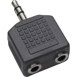 Image of BKL Electronic 1102014 1102014 Klinke Audio Y-Adapter [1x Klinkenstecker 3.5 mm - 2x Klinkenbuchse 3.5 mm] Schwarz