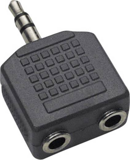 Klinke Audio Y-Adapter [1x Klinkenstecker 3.5 mm - 2x Klinkenbuchse 3.5 mm] Schwarz BKL Electronic