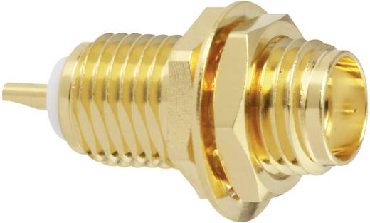 SMA-Steckverbinder Buchse, Einbau vertikal 50 Ω Amphenol SMA6351B1-3GT50G-50 1 St.