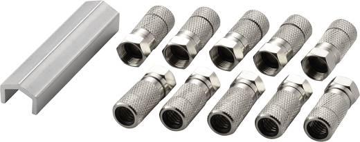 F-Stecker Set Kabel-Durchmesser: 7 mm