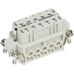 Konektorová vložka, zásuvka Han® A 09 20 010 2812 Harting 10 + PE, šroubovací připojení, 10 ks