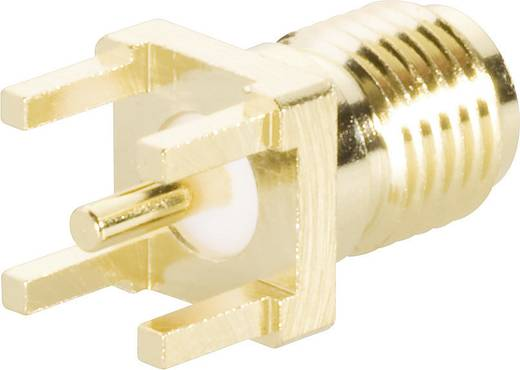 SMA-Reverse-Steckverbinder Buchse, Einbau vertikal 50 Ω BKL Electronic 0419012 1 St.