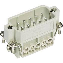 Vložka pinového konektoru Han® A 09 20 010 2612 Harting 10 + PE, šroubovací připojení, 10 ks