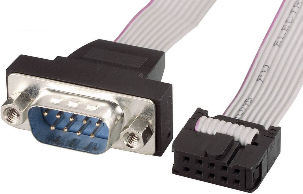 Series, Parallel Cable [1x D-SUB-plug 9-pin - 1x 10-pin ...