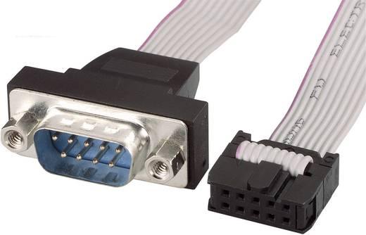 Seriell, Parallel Anschlusskabel [1x D-SUB-Stecker 9pol. - 1x Buchsenleiste 10pol.] 0.26 m Grau Renkforce