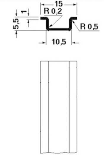 Hutprofil-Tragschiene NS 15 UNPERF 2000MM Phoenix Contact Inhalt: 2 m