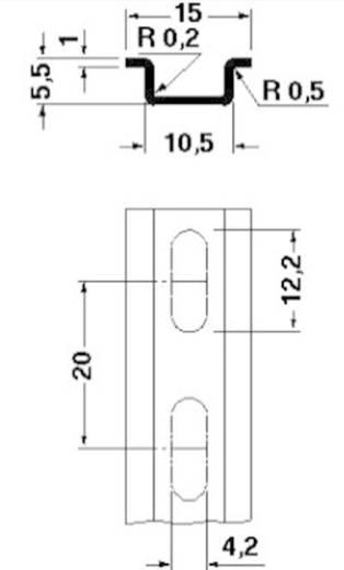 Hutprofil-Tragschiene NS 15 geperforeerd 2000mm Phoenix Contact Inhalt: 2 m