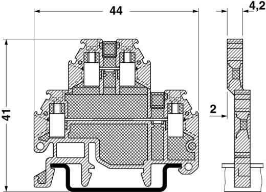 Microklemme MTTB 1,5 Phoenix Contact Grau Inhalt: 1 St.