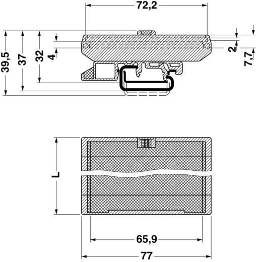 Hutschienen-Gehäuse Fußelement 77 x 39.5 Polyamid Grün Phoenix Contact UMK- FE 1 St.