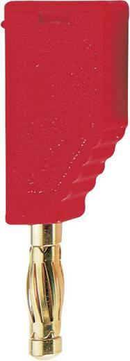 Lamellenstecker Stecker, gerade Stift-Ø: 4 mm Rot MultiContact SLS425-A 1 St.