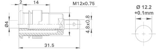 Sicherheits-Laborbuchse Buchse, Einbau vertikal Stift-Ø: 4 mm Grün-Gelb MultiContact SLB4-F/A 1 St.