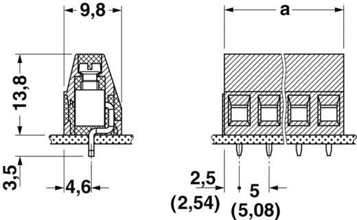 Schraubklemmblock 1.50 mm² Polzahl 10 MKDS 1,5/10-5,08 Phoenix Contact Grün 1 St.