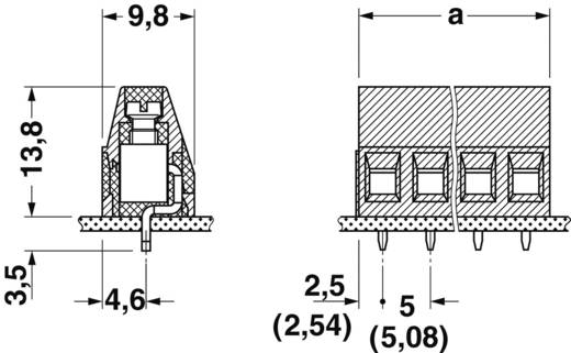 Schraubklemmblock 1.50 mm² Polzahl 3 MKDS 1,5/ 3-5,08 Phoenix Contact Grün 1 St.